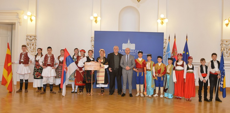 """Одржан пријем за учеснике трећег дечијег фолклорног фестивала """"Мали јесмо ал играти знамо"""""""