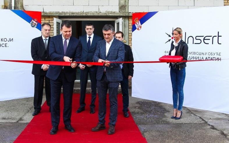 """Мировић отворио погон компаније """"Инсерт"""" у Апатину"""