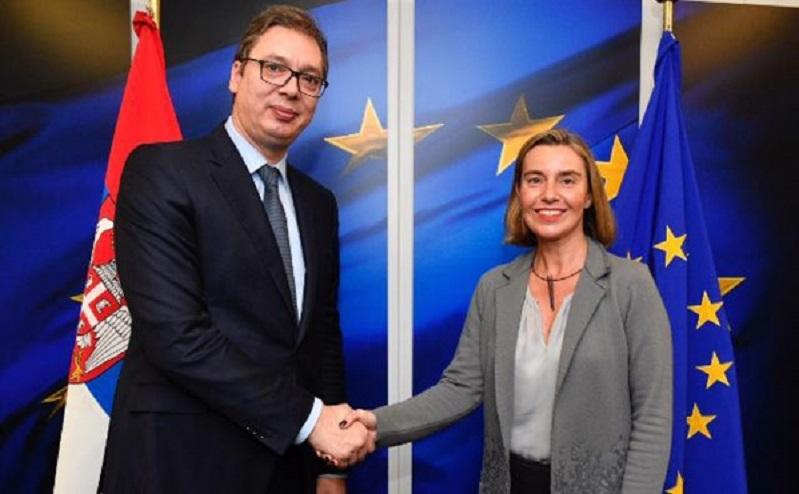 Подршка Могерини убрзању ЕУ пута Србије