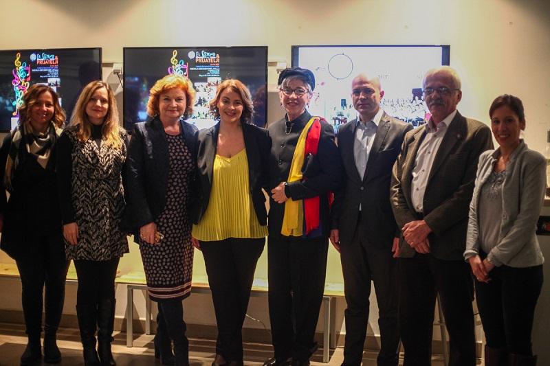 Pomoćnica direktora KCNS-a Sunčica Marković sa ambasadorkama Australije i Venecuele