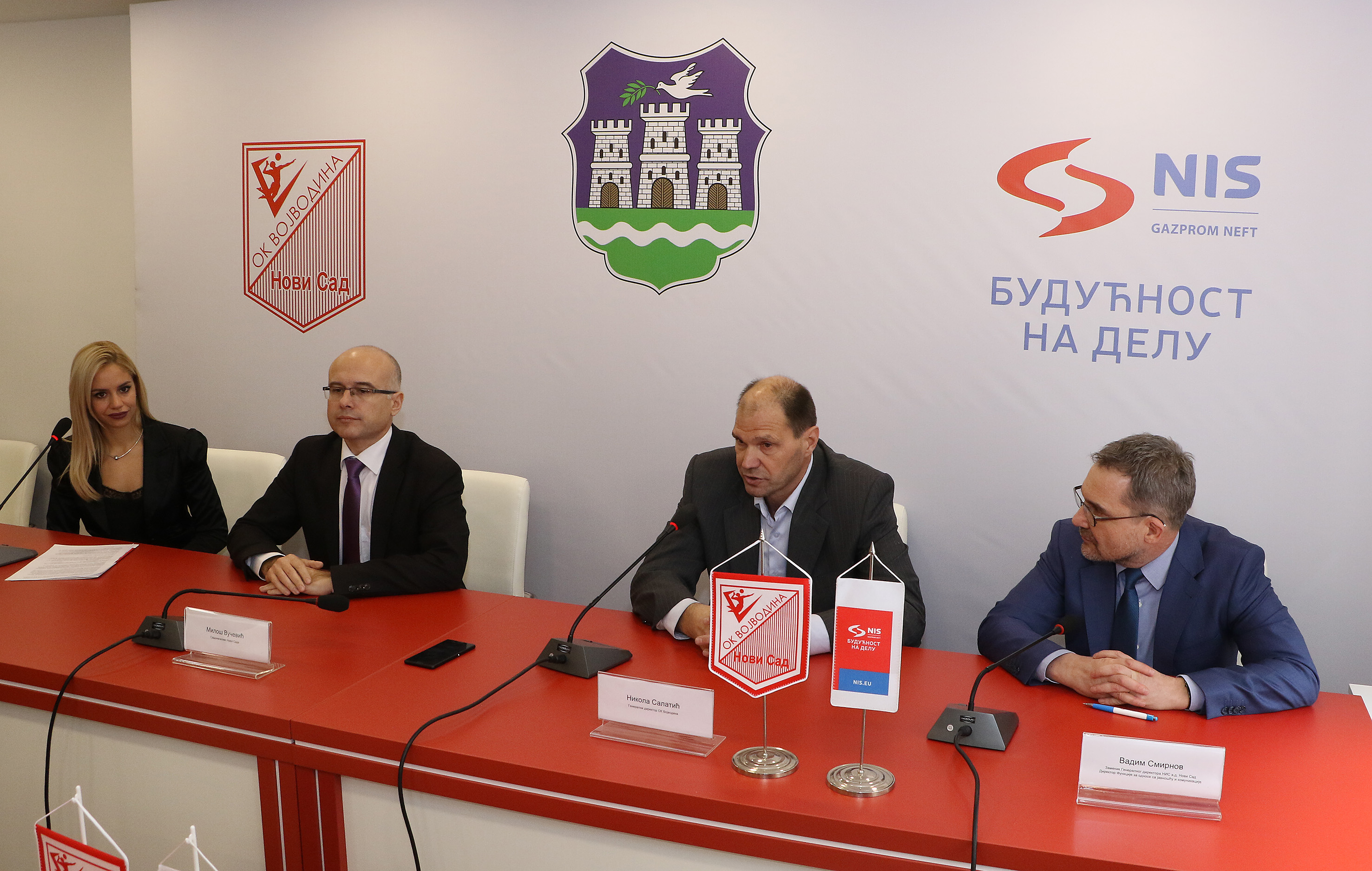 "Gradonačelnik posetio odbojkaški klub ""Vojvodina NS Seme"""