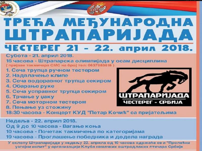 Za vikend, 21. i 22. aprila u banatskom selu Čestereg