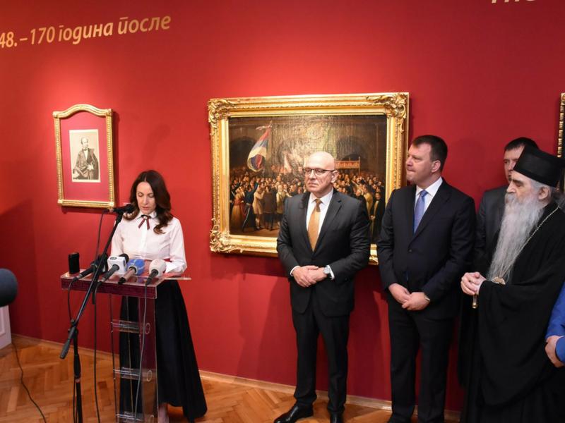 Свечано отворена изложба  МАЈСКА СКУПШТИНА 1848.  ‒ 170 ГОДИНА ПОСЛЕ
