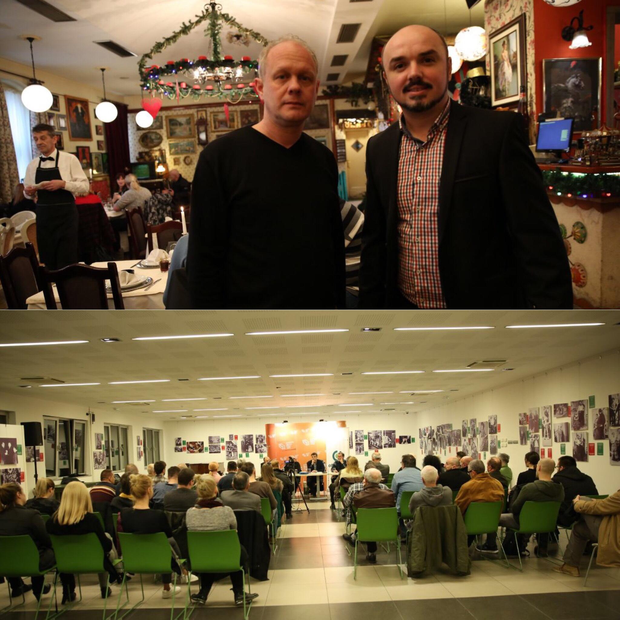 Direktori SKC Vukovar i KCNS u Novom Sadu, promocija knjige Slavka Bubala