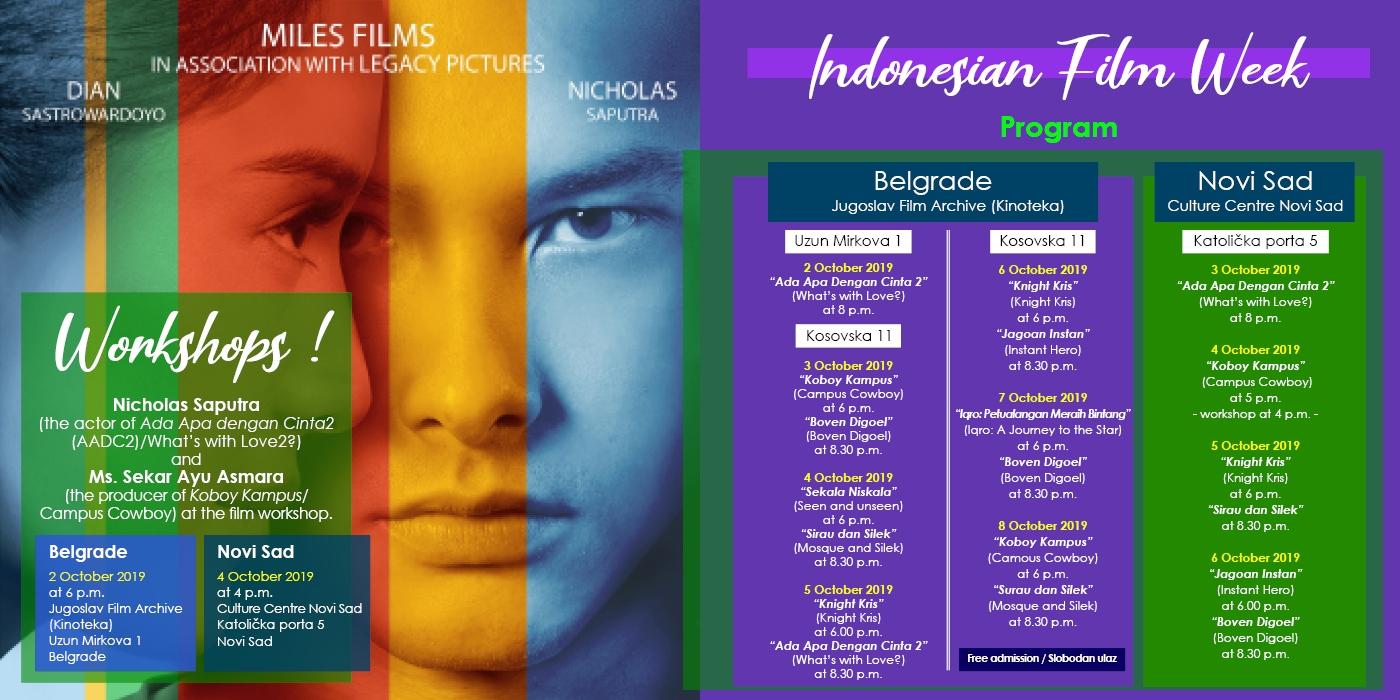 Dani indonežanskog filma u Kulturnom centru Novog Sada od 03. do 06. oktobra