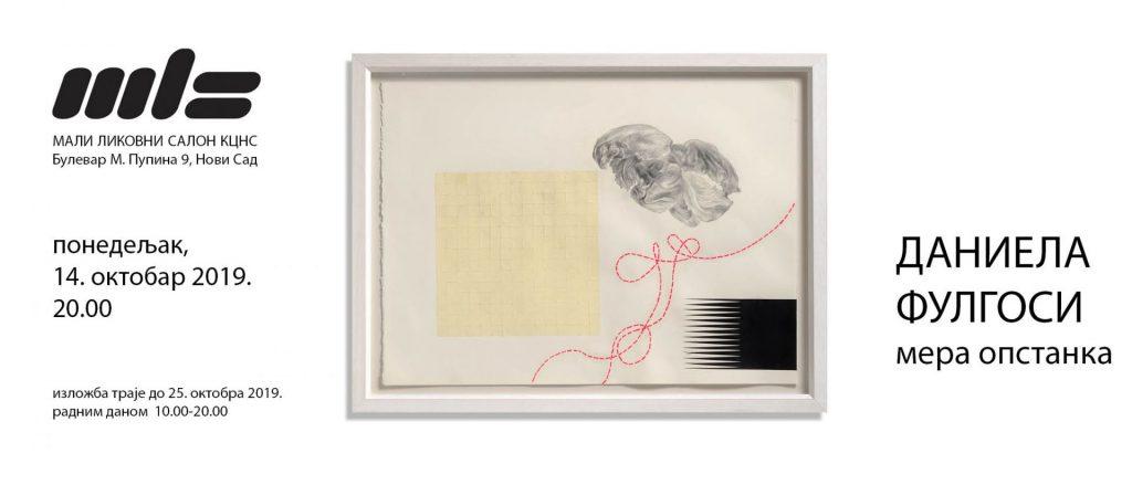"Izložba slika ""Mera opstanka"" autorke Daniele Fulgosi od 14. oktobra u Malom likovnom salonu"