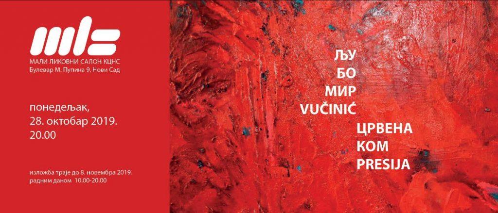 """Izložba """"Crvena kompresija"""" autora Ljubomira Vučinića od 28. oktobra u Malom likovnom salonu"""