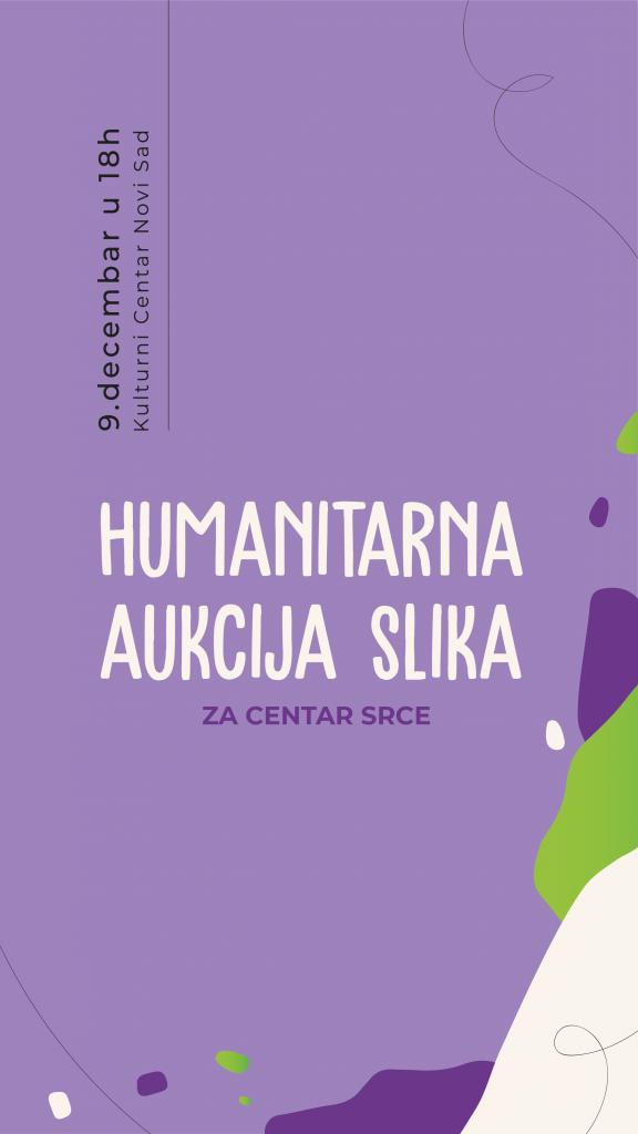 """Humanitarna aukcija slika i svečani koktel Centra """"Srce"""" 09. decembra u KCNS"""