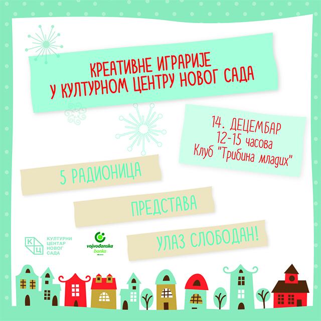 """""""Kreativne igrarije"""" u Kulturnom centru Novog Sada"""