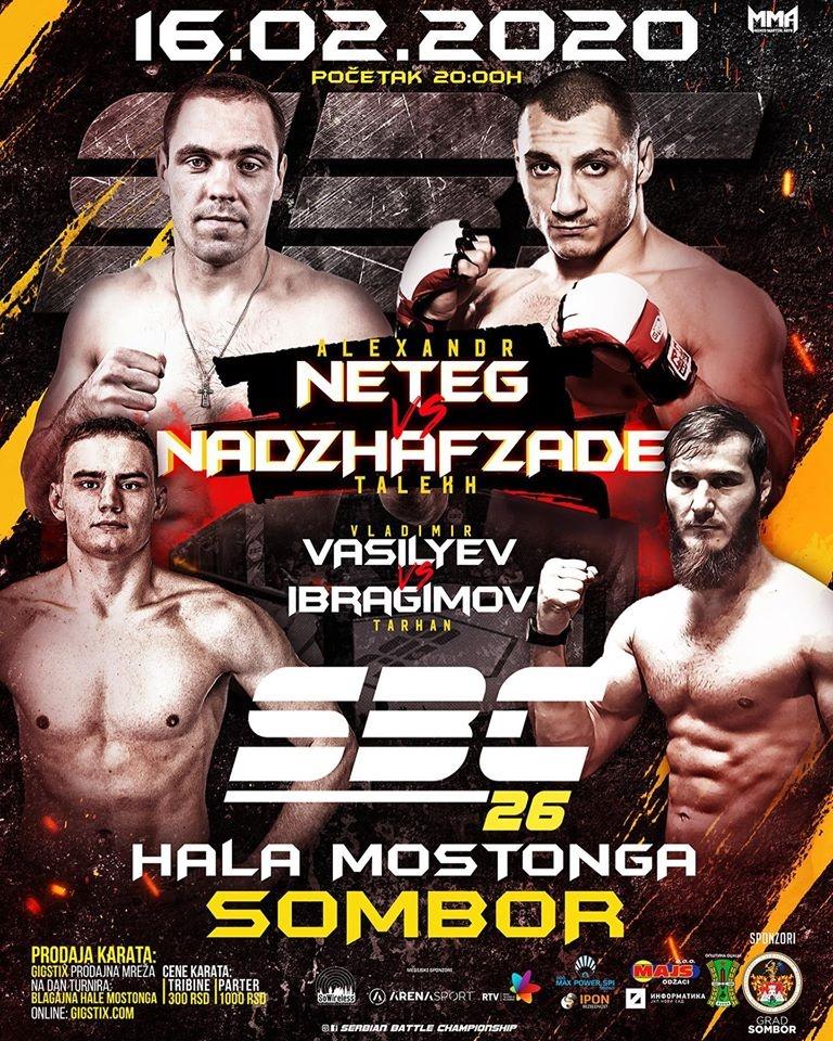 "SERBIAN BATTLE CHAMPIONSHIP 26 – SOMBOR 16.02. GRADSKA HALA ""MOSTONGA"""