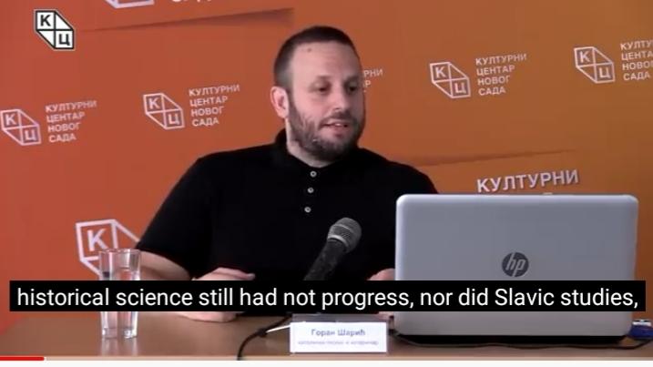 """Предавање Горана Шарића на тему """"Порекло Словена"""" преведено на енглески језик"""