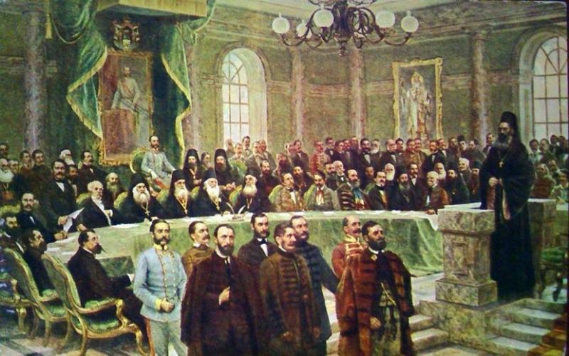 СПРЕЧЕНА ПРОДАЈА СЛИКЕ БЛАГОВЕШТЕНСКИ САБОР У СРЕМСКИМ КАРЛОВЦИМА 1861. ЧУВЕНОГ СЛИКАРА ВЛАХА БУКОВЦА